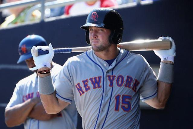 Tim Tebow spent some time in the Arizona Fall League and with the Mets in spring training. (AP)
