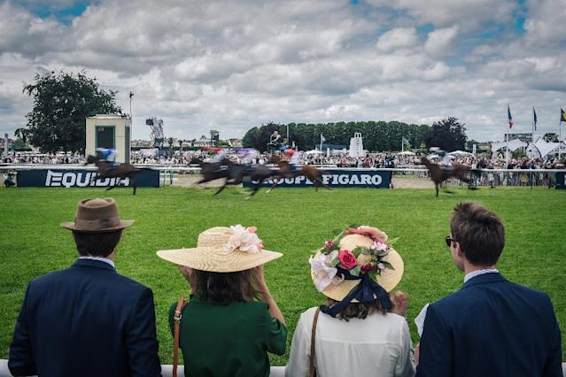 Founded in 1843, the Prix de Diane race in Chantilly, just north of Paris, has been hailed as a showcase of French elegance (AFP Photo/LUCAS BARIOULET)