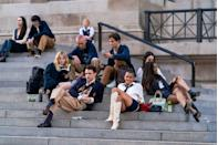 <p>The new crew taking their perch at the Met, Nov. 10.</p>