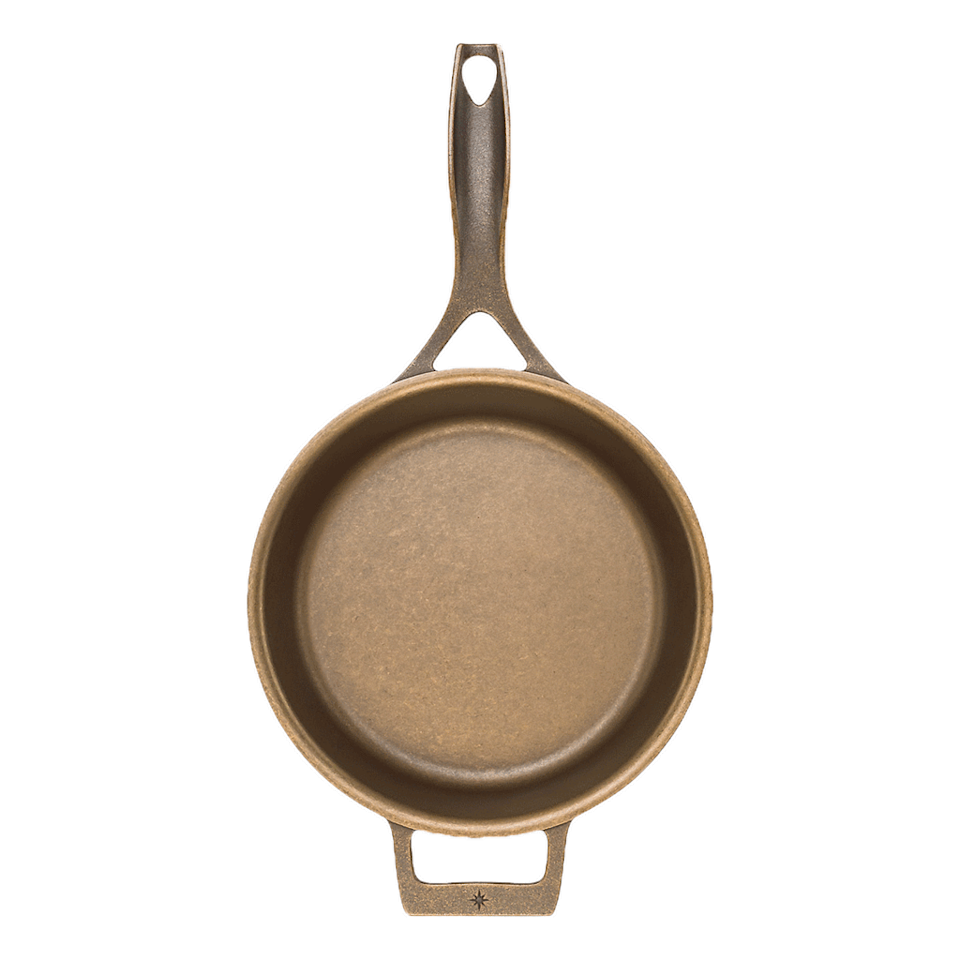"""<p><strong>Stargazer</strong></p><p>stargazercastiron.com</p><p><strong>$115.00</strong></p><p><a href=""""https://go.redirectingat.com?id=74968X1596630&url=https%3A%2F%2Fstargazercastiron.com%2Fcollections%2Fskillets%2Fproducts%2F10-5-inch-skillet&sref=https%3A%2F%2Fwww.goodhousekeeping.com%2Fcooking-tools%2Fg29993894%2Fbest-cast-iron-skillets%2F"""" rel=""""nofollow noopener"""" target=""""_blank"""" data-ylk=""""slk:Shop Now"""" class=""""link rapid-noclick-resp"""">Shop Now</a></p><p>The <strong>thin walls and smooth cooking surface on the Stargazer 10.5-inch compare to vintage cast iron skillets of the past</strong>. It also has a beautiful stamped logo on the underside, which adds to its charm. The high sloping walls make it easier to toss than most, and the flared rim helps make pouring easier from any angle. In our tests, the forked handle, designed to stay cool, was a little hard to grip, but the helper handle helped. The pans are made in the U.S.A. and pair quality with affordability.<br></p>"""