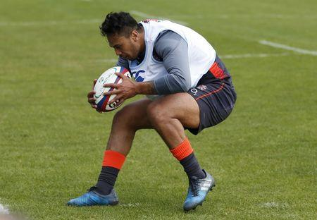 Britain Rugby Union - England Training - Brighton College - 16/5/17 England's Denny Solomona during training Action Images via Reuters / Andrew Boyers Livepic