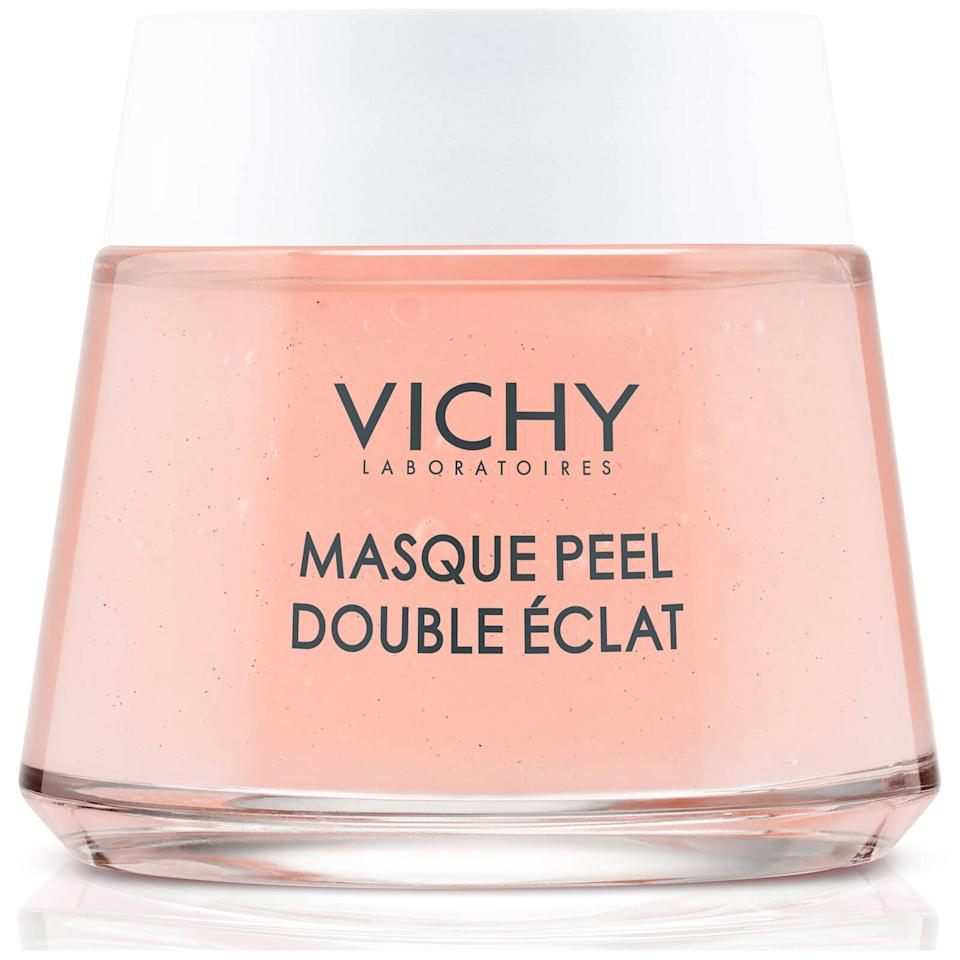 """<p>You'll be hard-pressed to find an <em>Allure</em> editor who isn't obsessed with Vichy's <a href=""""https://www.allure.com/review/vichy-double-glow-mask-peel-review?mbid=synd_yahoo_rss"""">Double Glow Peel Mask</a>. Perfect for lazy and/or busy people, this face mask only needs five minutes to work its magic on freshly cleansed and dried skin. With a combination of fruit acids and volcanic rock matter, it chemically exfoliates and mechanically exfoliates simultaneously to obliterate any and all skin congestion.</p> <p><strong>$20</strong> (<a href=""""https://www.vichyusa.com/skin-care/skin-care-product-type/face-mask/double-glow-peel-mask-3337875508896.html"""" rel=""""nofollow"""">Shop Now</a>)</p>"""