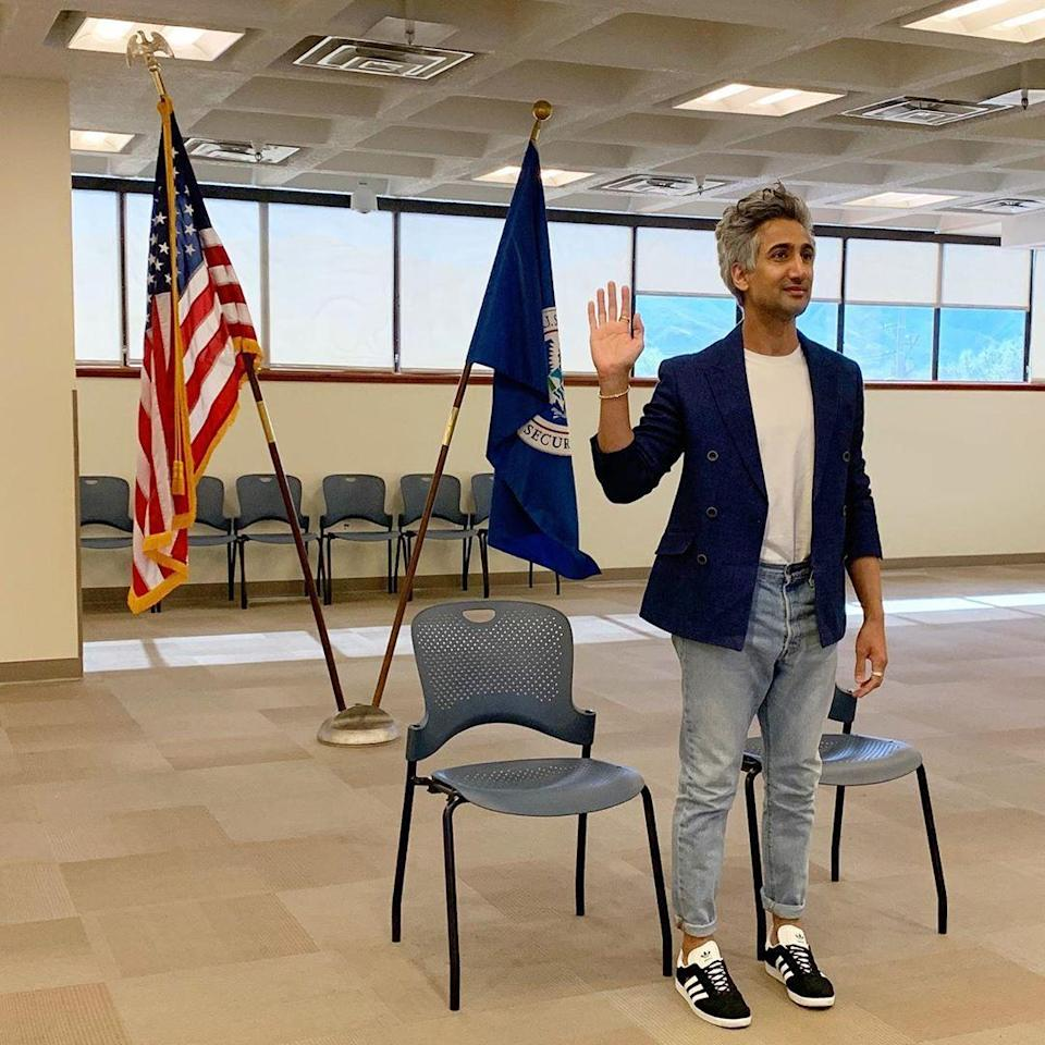 """<p>The <em>Queer Eye </em>host got his citizenship in June, and had his eye on the prize the whole time: """"And now, I will exercise my constitutional right as an American. Today, I will register to vote, and vote for the change I wish to see in OUR nation,"""" <a href=""""https://www.instagram.com/p/CBOIhxFAwhG/"""" rel=""""nofollow noopener"""" target=""""_blank"""" data-ylk=""""slk:he wrote the day he became a citizen"""" class=""""link rapid-noclick-resp"""">he wrote the day he became a citizen</a>.</p> <p>Recently he addressed critics on his Instagram who felt he was being too political. """"When I talk about voting, I talk about it for this reason: It's because I feel so much hope for our country,"""" <a href=""""https://www.instagram.com/p/CGixW5sAnAE/"""" rel=""""nofollow noopener"""" target=""""_blank"""" data-ylk=""""slk:he said"""" class=""""link rapid-noclick-resp"""">he said</a>. """"I have a vision for our country that brings me so much joy and so much hope ... I love America so much and know it can be so much better than it is""""</p>"""