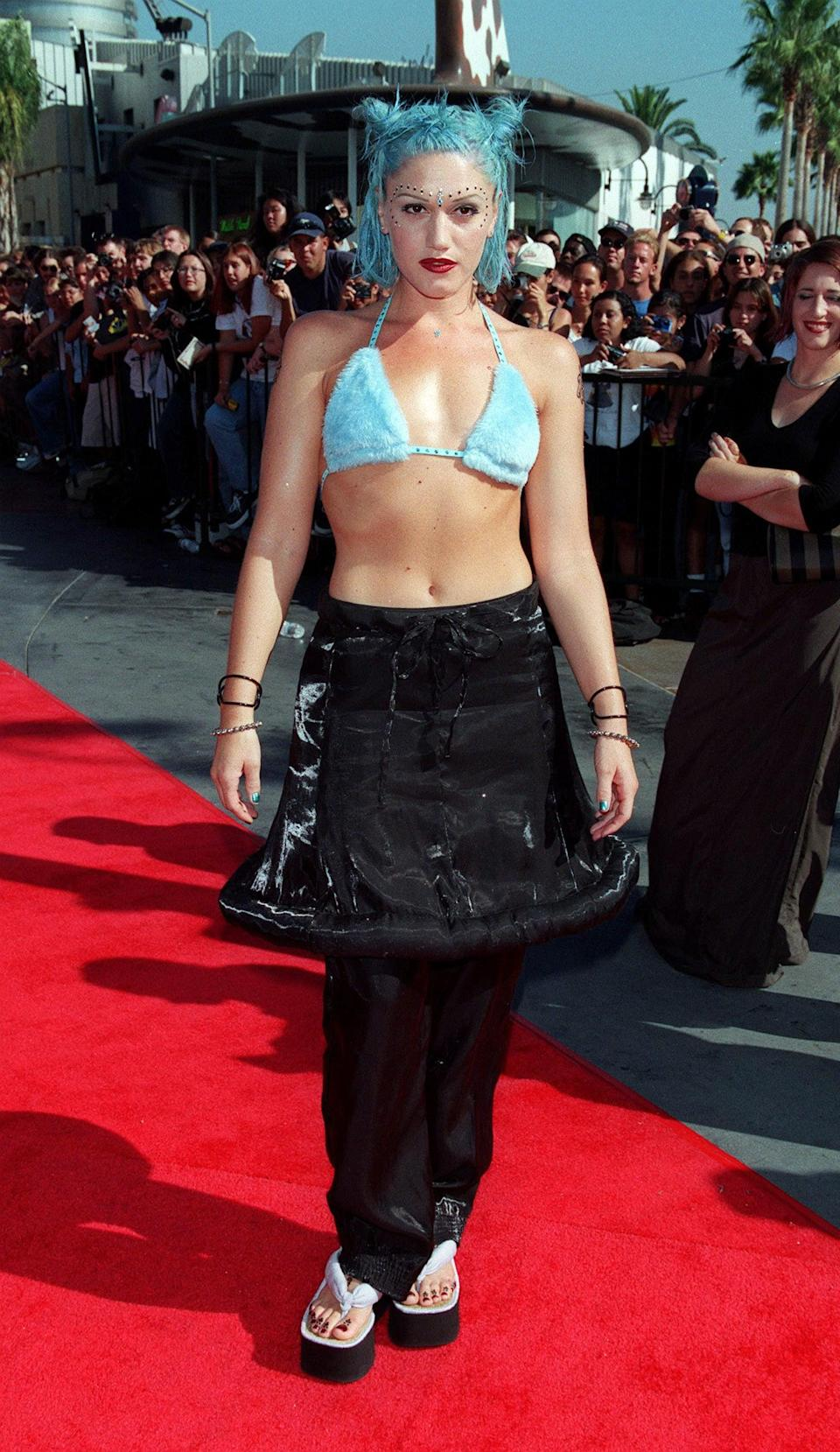 <p>Sorry, we couldn't help ourselves. Gwen's appearance at the MTV Video Music Awards in 1998 alongside No Doubt is still one of her most iconic fashion moments.</p>