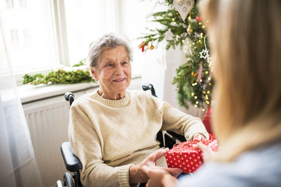<p>People who don't have friends and family around often feel left out during the holiday season. Ask a local nursing home or senior center if any of their residents need a little extra cheer, and bring them a token gift that shows someone's thinking of them. </p>
