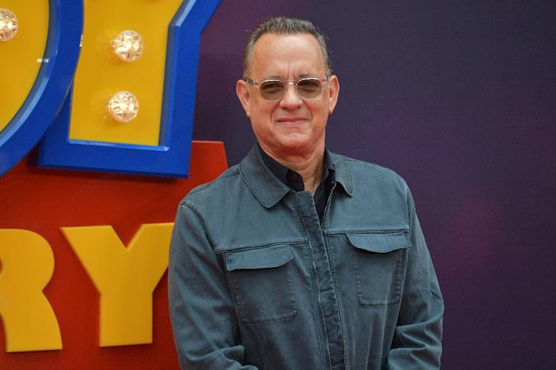 Actor Tom Hanks, who voices Sheriff Woody in 'Toy Story 4,' poses in London at the European premiere of the film on June 16, 2019