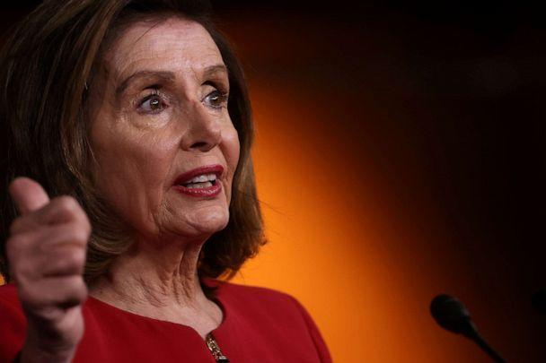 PHOTO: House Speaker Nancy Pelosi holds her weekly news conference at the U.S. Capitol in Washington, Sept. 8, 2021. (Jonathan Ernst/Reuters, FILE)