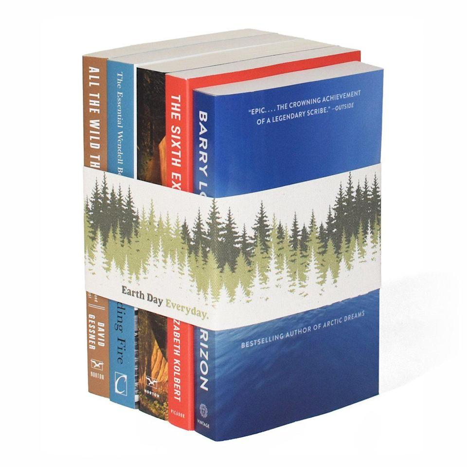 """<p><strong>Juniper Books</strong></p><p>juniperbooks.com</p><p><strong>$150.00</strong></p><p><a href=""""https://www.juniperbooks.com/products/earth-day-everyday-book-set"""" rel=""""nofollow noopener"""" target=""""_blank"""" data-ylk=""""slk:Shop"""" class=""""link rapid-noclick-resp"""">Shop</a></p><p>If you're looking for a well-rounded addition to your environmental reading list, check out Juniper Books' specially curated Earth Day book set. Plus: For every sale of the set, the brand will make a donation to the <a href=""""https://www.edf.org/"""" rel=""""nofollow noopener"""" target=""""_blank"""" data-ylk=""""slk:Environmental Defense Fund"""" class=""""link rapid-noclick-resp"""">Environmental Defense Fund</a>.</p>"""