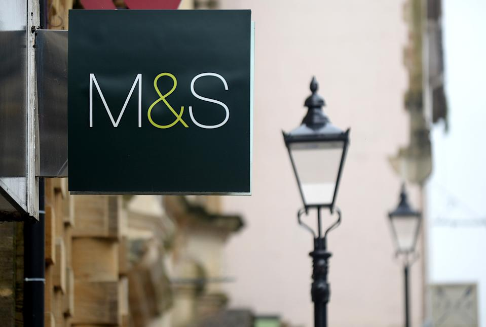 """DORCHESTER, ENGLAND - JANUARY 24: A general view of a Marks and Spencerstore on January 24, 2020 in Dorchester, England. Marks and Spencer announces it is to close its Dorchester store on February 22 after having an M&S store in Dorchester since 1936. Aaron Spicer, M&S Head of Region for the South Coast, said: """"Shopping habits are changing and closing our Dorchester store is a difficult but necessary decision as part of our plans to reshape our estate and better serve our customers with fewer, more inspirational stores."""" (Photo by Finnbarr Webster/Getty Images)"""