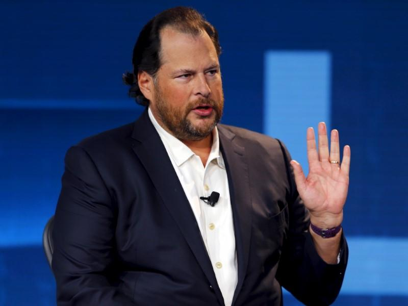 Marc Benioff, chairman and CEO of Salesforce speaks at the Wall Street Journal Digital Live ( WSJDLive ) conference at the Montage hotel in Laguna Beach
