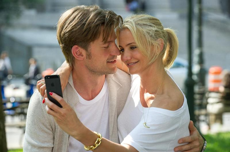 """This image released by 20th Century Fox shows Nikolaj Coster-Waldau, left, and Cameron Diaz in a scene from """"The Other Woman."""" (AP Photo/20th Century Fox, Barry Wetcher)"""
