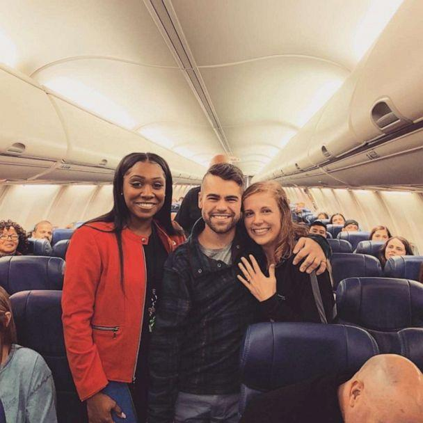 PHOTO: Nick Boucher planned an elaborate proposal to pop the question to girlfriend Emily Weindorf on her flight home. (Southwest Airlines)