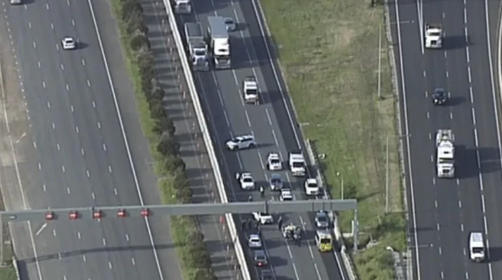 Aerial footage of the scene. Source: 7News
