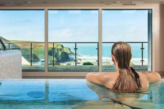 Gaze at the sea from the comfort of the spa at Bedruthan Hotel (Bedruthan Hotel and Spa)