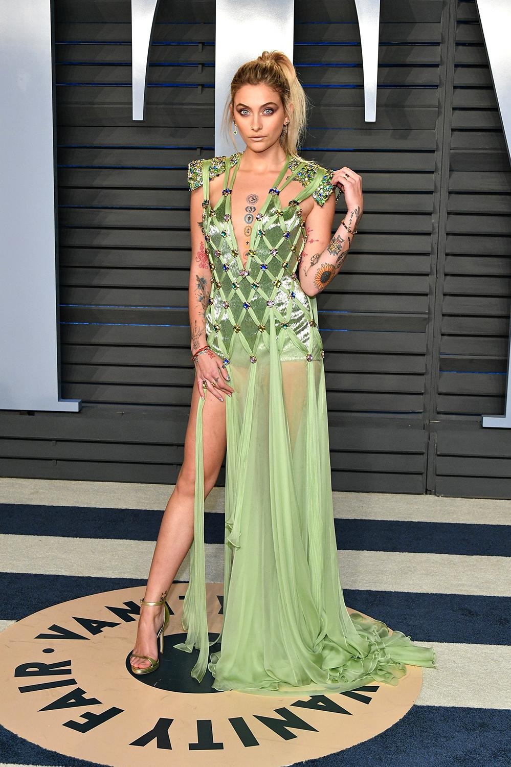 Paris Jackson In Versace At The Oscars After Party Video