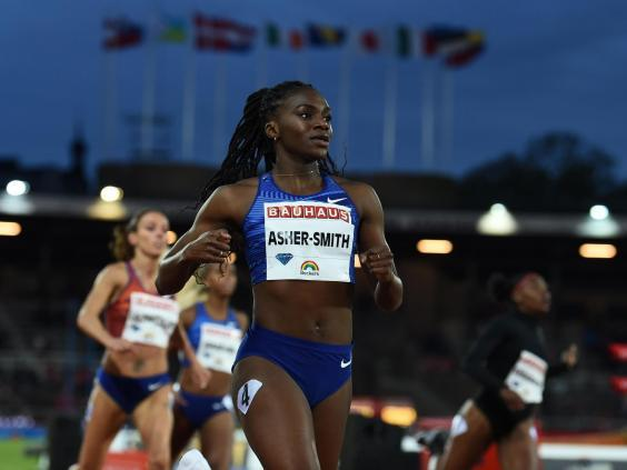 Dina Asher-Smith in action at the Diamond League earlier this year (Getty)