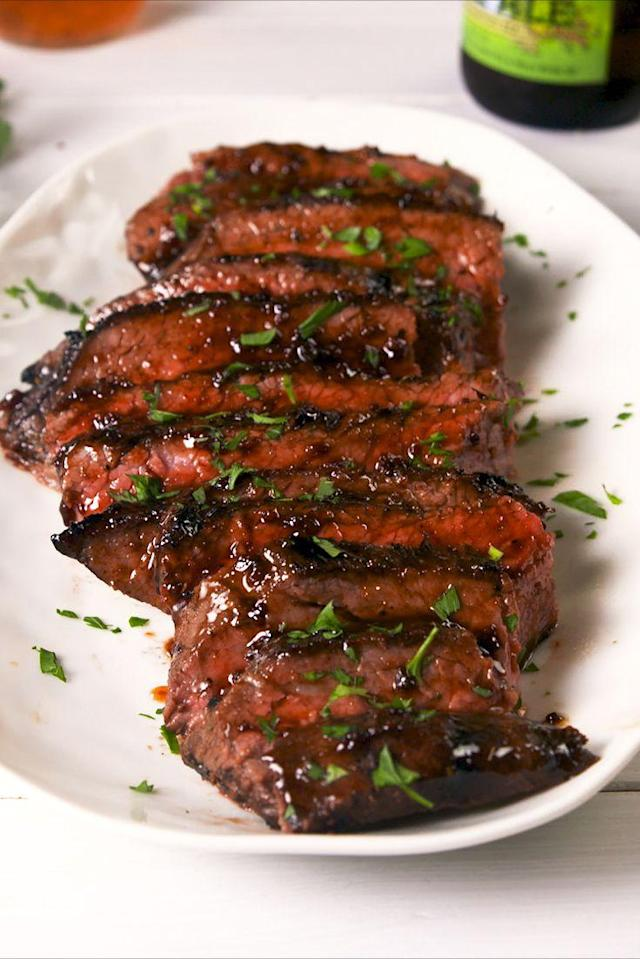 """<p>Bust most especially tri-tip.</p><p>Get the recipe from <a href=""""https://www.delish.com/cooking/recipe-ideas/a21086711/cajun-butter-steak-recipe/"""" rel=""""nofollow noopener"""" target=""""_blank"""" data-ylk=""""slk:Delish."""" class=""""link rapid-noclick-resp"""">Delish.</a><br></p><p><a href=""""https://www.amazon.com/Thermometer-Habor-Instant-Cooking-Kitchen/dp/B01LKRHW3E"""" rel=""""nofollow noopener"""" target=""""_blank"""" data-ylk=""""slk:BUY NOW"""" class=""""link rapid-noclick-resp"""">BUY NOW</a> <strong><em>Meat Thermometer, $9.70, amazon.com</em></strong><br></p>"""
