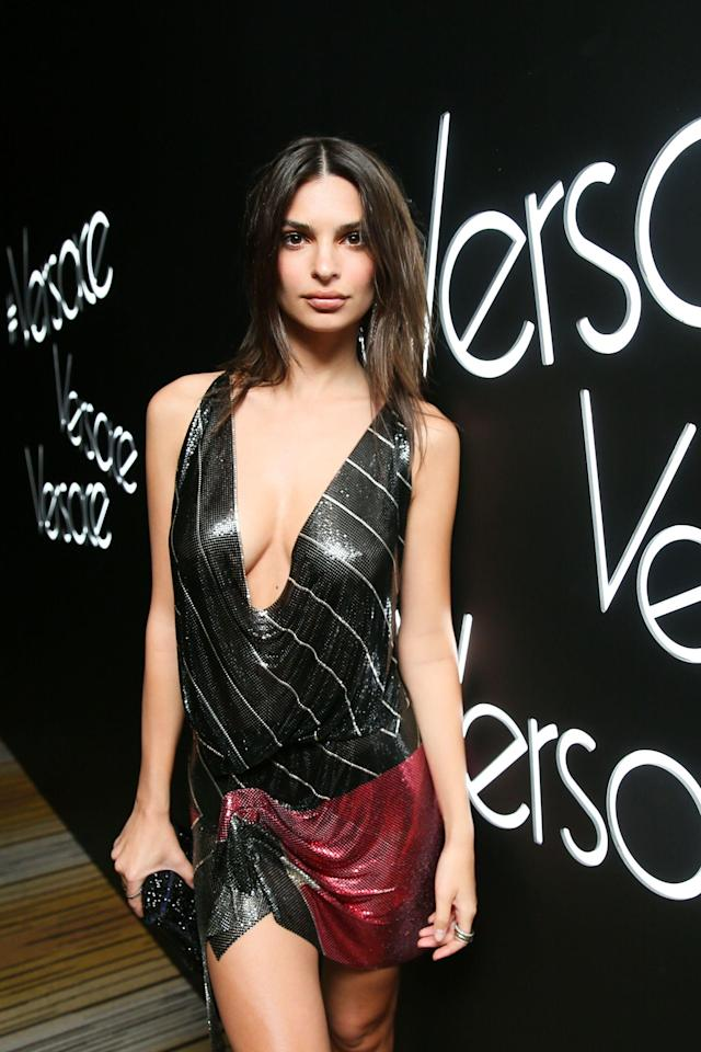 <p>Emily Ratajkowski<br> Versace Afterparty, Met Gala, New York, USA – 07 May 2018<br> (Photo: Shutterstock) </p>