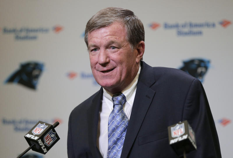 Marty Hurney had the interim tag removed and will be the Panthers' permanent GM. (AP)