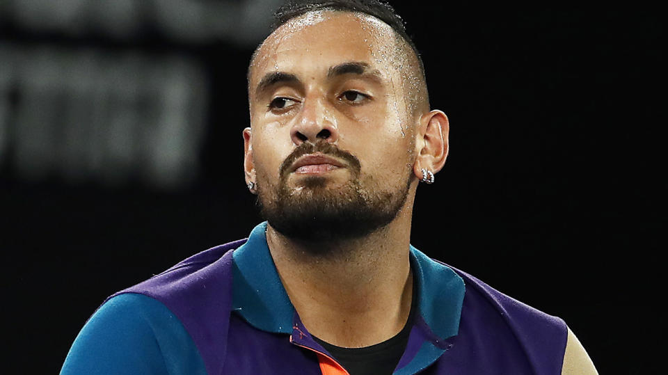 Nick Kyrgios has withdrawn from the Queen's Club Championship, citing a neck injury.