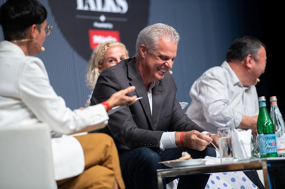 Chef Eric Ripert delighted with tasting chef Tetsuya Wakuda's food. (PHOTO: The World's 50 Best Restaurants 2019)