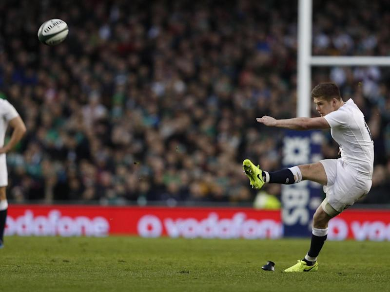 Farrell kicked nine points for England (Getty)