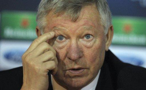 Manchester United coach Alex Ferguson pictured during a press conference in Braga, Portugal, on November 6, 2012. Ferguson has called into question the need for England to play a friendly game in Sweden next week