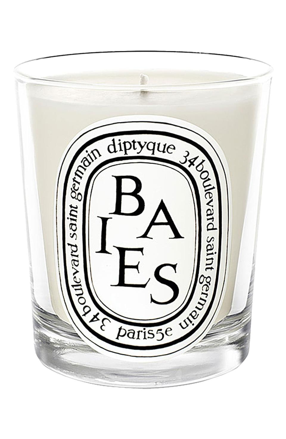 <p>Burning this <span>Diptyque Baies/Berries Scented Candle</span> ($36) will make any room all the more zen.</p>