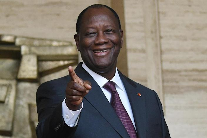 Ivory Coast President Alassane Ouattara unveiled his new government during a press conference in Abidjan, on January 12, 2016 (AFP Photo/Sia Kambou)