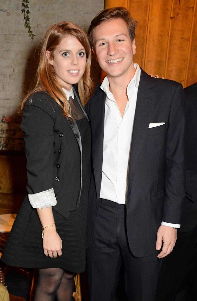Princess Beatrice and former boyfriend Dave Clark at a book launch in London in October 2014 [Photo: Getty]