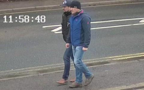 <span>Petrov and Boshirov pictured just before midday on March 4 in Salisbury&nbsp;</span>