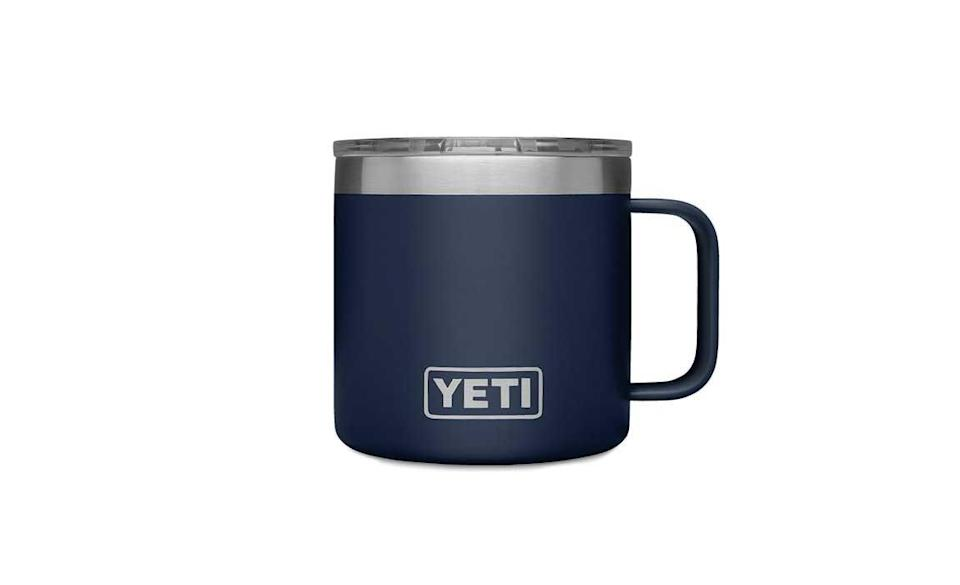 Best Insulted Tumbler with Handle: YETI Rambler 14 oz Stainless Steel Vacuum Insulated Mug with Lid