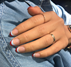 How to make a French mani even cooler? Double up on colors.