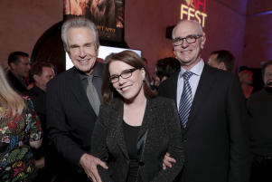 Warren Beatty, Lorraine Feather, Eddie Arkin