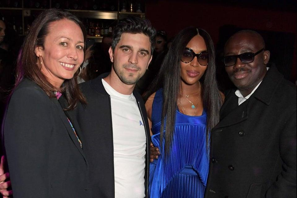 (L to R) Caroline Rush, Nick Molnar, Naomi Campbell and Editor-In-Chief of British Vogue Edward Enninful (Dave Benett)