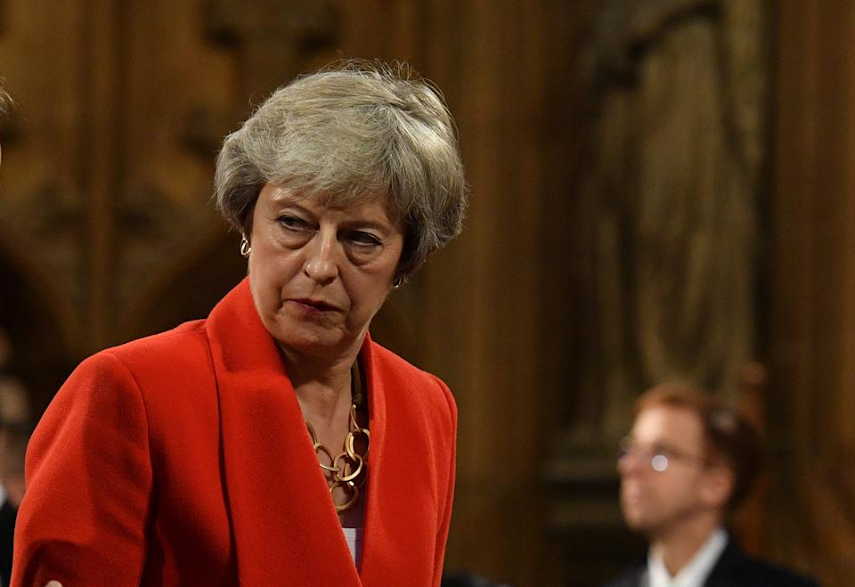 <p>Former Conservative prime minister Theresa May has attacked the government's handling of Brexit</p> (Getty)