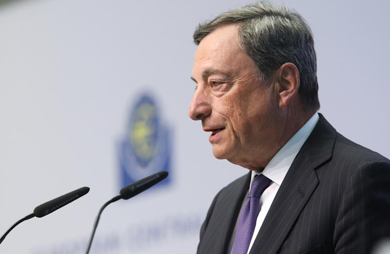 ECB chief Mario Draghi defends e-commerce players like Amazon