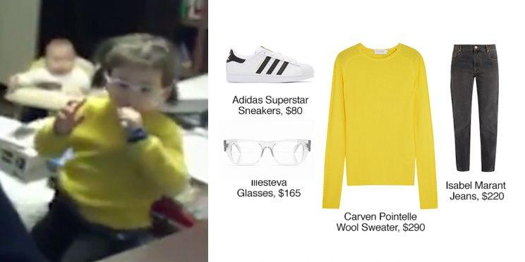 Carven pointelle-trimmed ribbed wool sweater ($290, <a href=