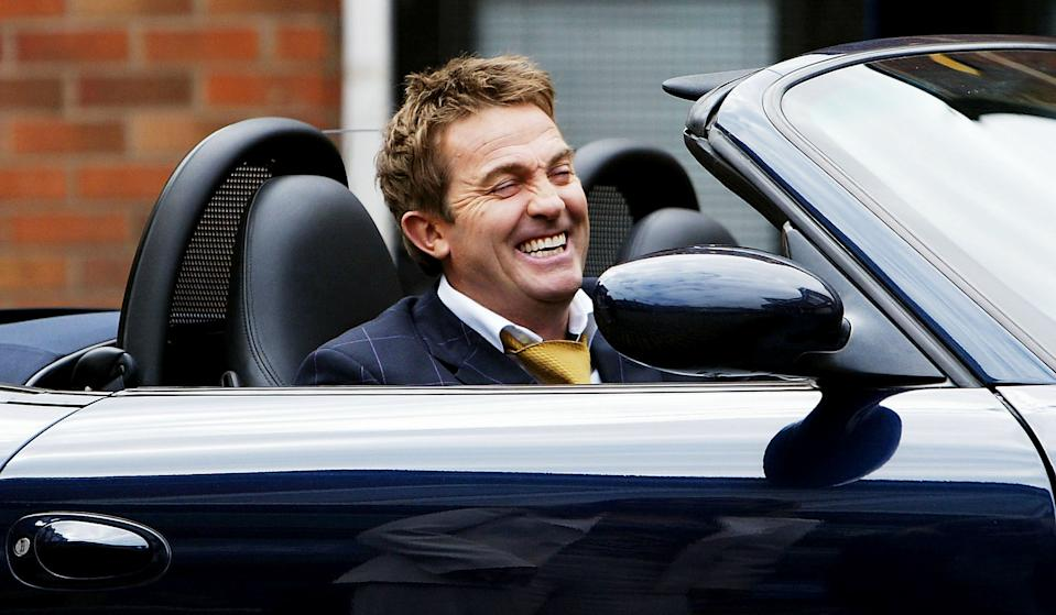 MANCHESTER, ENGLAND - MAY 6: The residents of Britain's most famous Street are in for a shock when Danny Baldwin arrives, played by Bradley Walsh, on the set of Coronation Street at Granada Studios on May 6, 2004 in Manchester, England. (Photo by Laurence Griffiths/Getty Images)