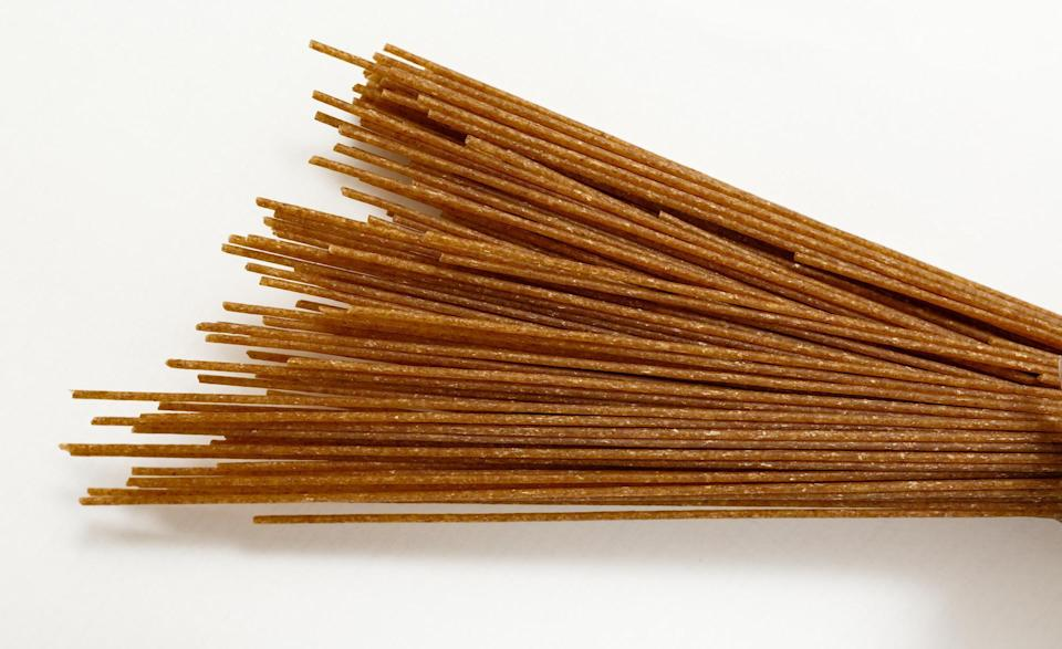 <p>Because whole-wheat pasta is made with 100% whole wheat, it cooks differently than noodles made with semolina. Compared to regular penne, whole-wheat penne cooks in nine to 10 minutes.</p>