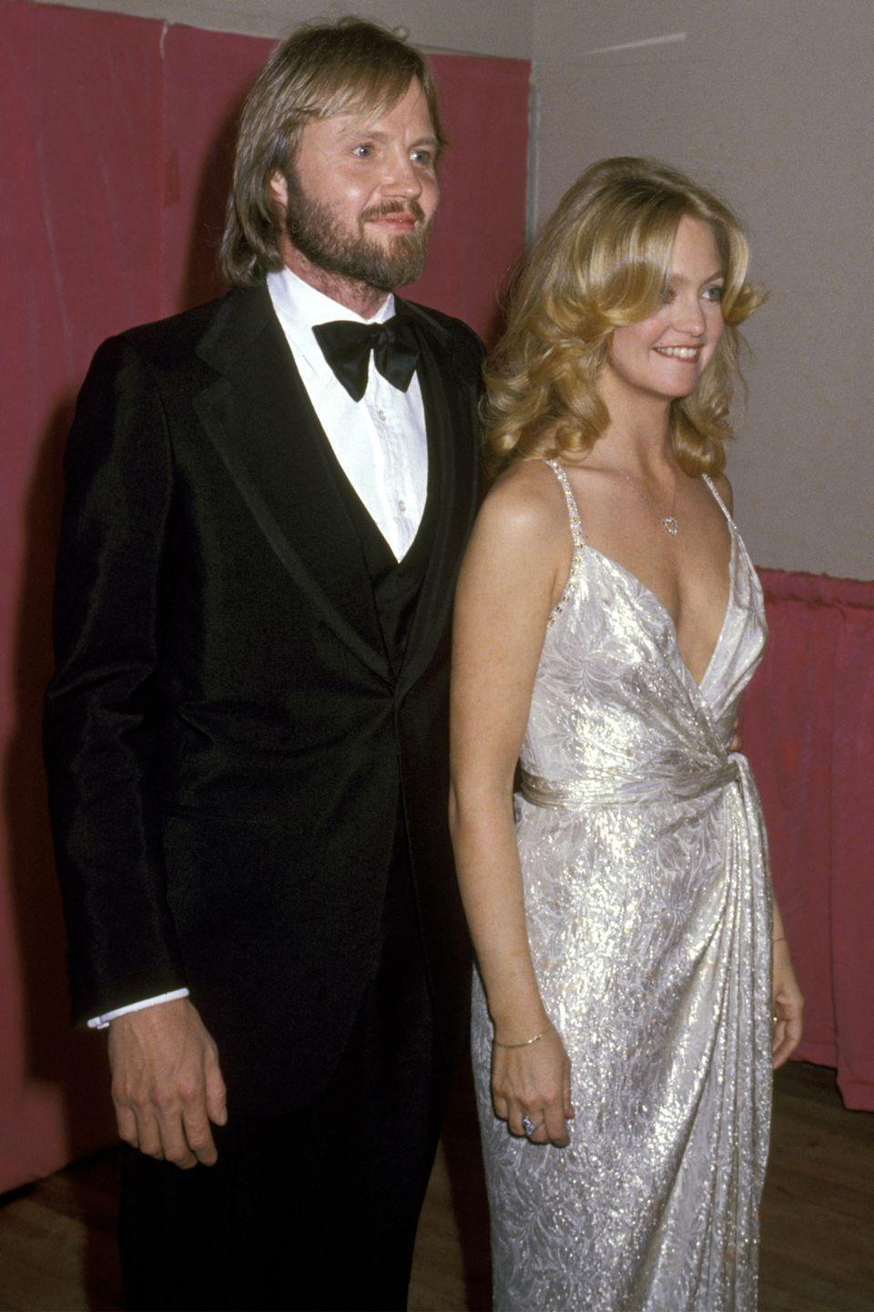 <p>Goldie Hawn was just begining her ascent to Hollywood royalty, her metallic wrap dress exuded effortless glamour girl. </p>