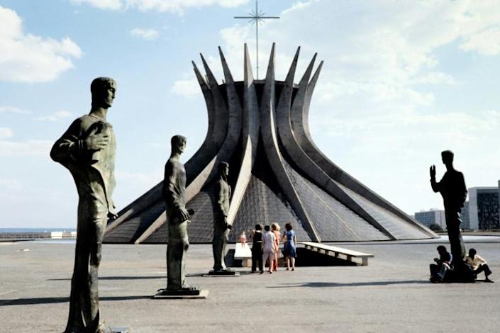 Brasilia cathedral, one of the most famous landmarks by Oscar Niemeyer in the Brazilian capital inaugurated on April 21, 1960 (AFP Photo/)