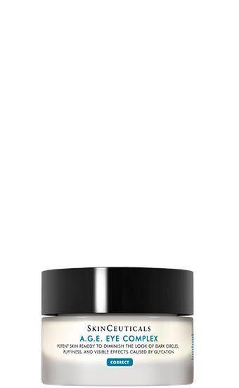 """<p>This luxurious eye cream feels rich and buttery, yet absorbs much faster than many others with similarly heavy textures — though its real selling point is the actual formula, which contains caffeine, peptides, and a host of other ingredients that minimize the ill effects of a <a href=""""https://www.refinery29.com/en-us/smoking-effects-on-skin"""" rel=""""nofollow noopener"""" target=""""_blank"""" data-ylk=""""slk:sugary diet"""" class=""""link rapid-noclick-resp"""">sugary diet</a> on the skin.</p><br><br><strong>SkinCeuticals</strong> A.G.E. Eye Complex for Dark Circles, $98, available at <a href=""""https://www.skinceuticals.com/a.g.e.-eye-complex-for-dark-circles-635494358001.html"""" rel=""""nofollow noopener"""" target=""""_blank"""" data-ylk=""""slk:SkinCeuticals"""" class=""""link rapid-noclick-resp"""">SkinCeuticals</a>"""