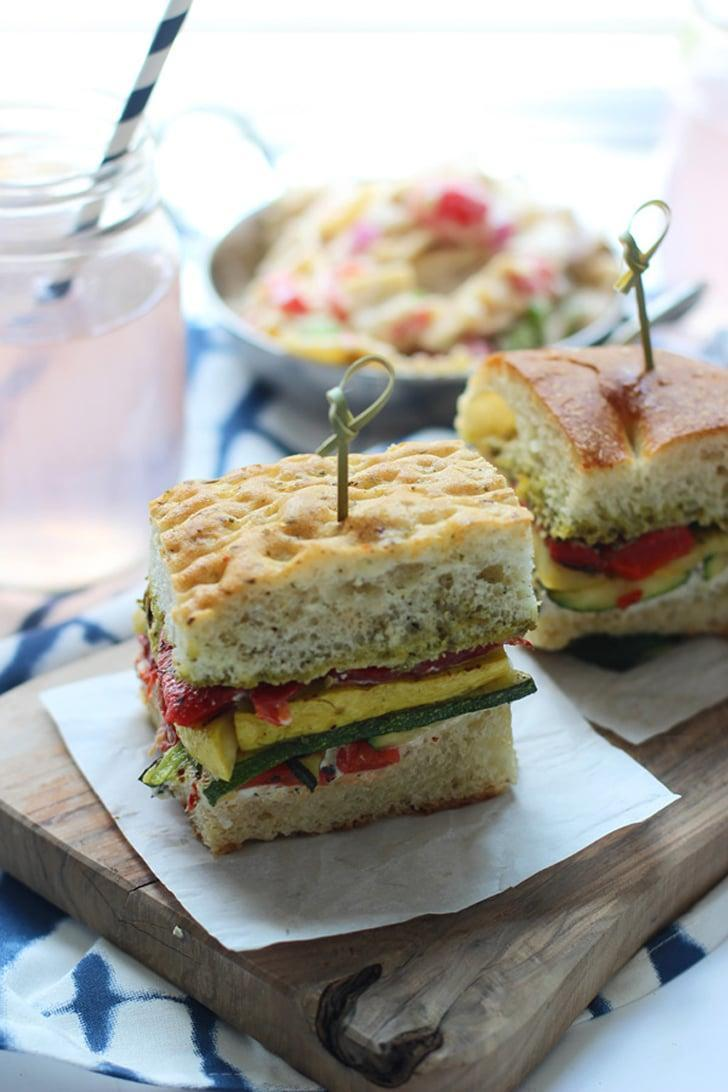 "<p> Hungry for lunch? These sandwiches are the perfect midday meal, and the grilled zucchini inside is what makes it! </p> <p><strong>Get the recipe</strong>: <a href=""http://www.cookingforkeeps.com/2014/06/04/grilled-veggie-sandwiches-herbed-cream-cheese-pesto/"" class=""link rapid-noclick-resp"" rel=""nofollow noopener"" target=""_blank"" data-ylk=""slk:grilled veggie sandwiches with herbed cream cheese and pesto"">grilled veggie sandwiches with herbed cream cheese and pesto</a></p>"