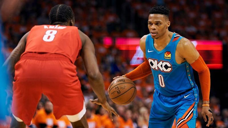 new product ce3e7 985a5 Playoff Edition Three Things to Know  Westbrook vs. Lillard is best show in  playoffs