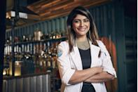 <p>Fatima Ali moved from Pakistan to the United States to enroll in the Culinary Institute of America and followed up her education with positions at numerous New York City restaurants. She became the first Pakistani woman to win the Food Network's <em>Chopped</em> before joining <em>Top Chef</em> in season 15.</p>