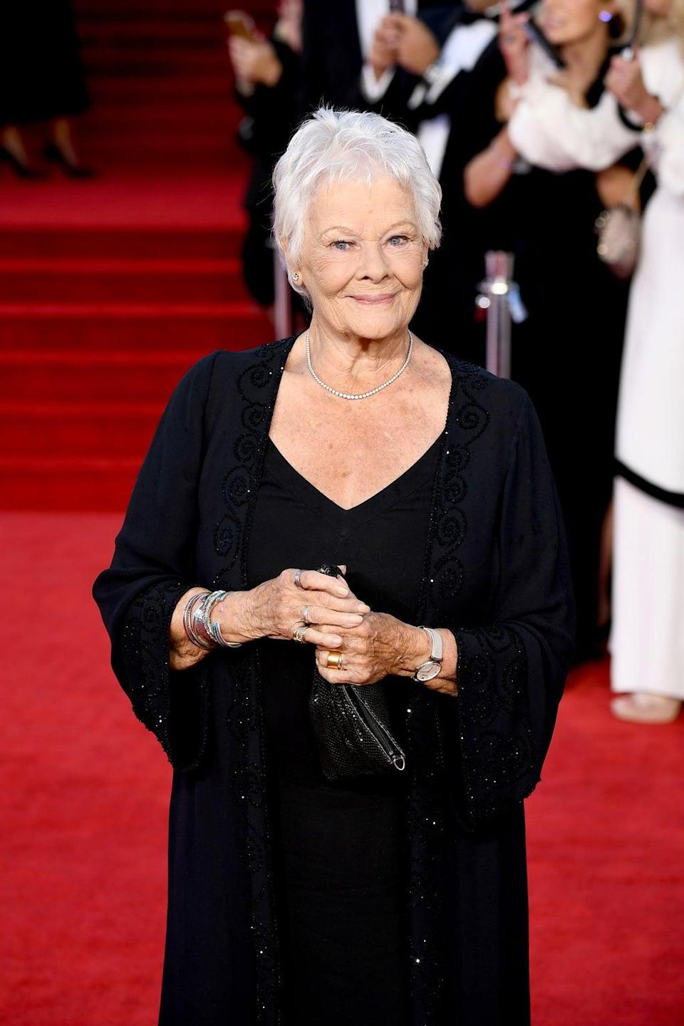 Dame Judi Dench (Jeff Spicer/Getty Images for EON Productions, Metro-Goldwyn-Mayer Studios, and Universal Pictures)