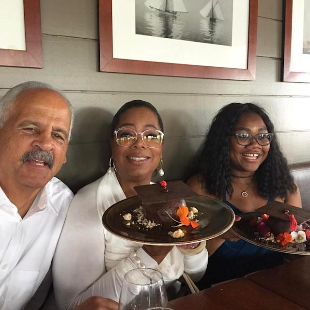 "<p>It's graduation season, and Oprah is all about higher education — and a good party: ""Graduation cake. Celebrating today in Providence. #Browngraduate. 2 more to go!"" (Photo: <a href=""https://www.instagram.com/p/BUp2VN5gAwS/?taken-by=oprah"" rel=""nofollow noopener"" target=""_blank"" data-ylk=""slk:Oprah via Instagram"" class=""link rapid-noclick-resp"">Oprah via Instagram</a>)<br><br></p>"