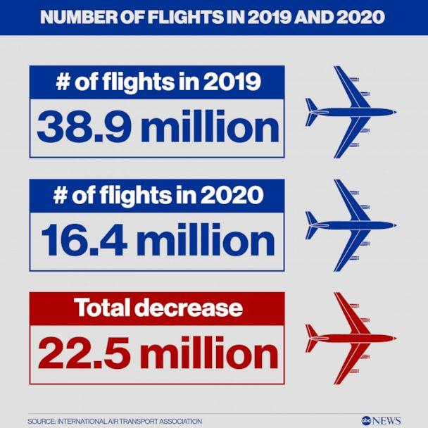 PHOTO: Number of Flights in 2019 and 2020 (International Air Transport Association)