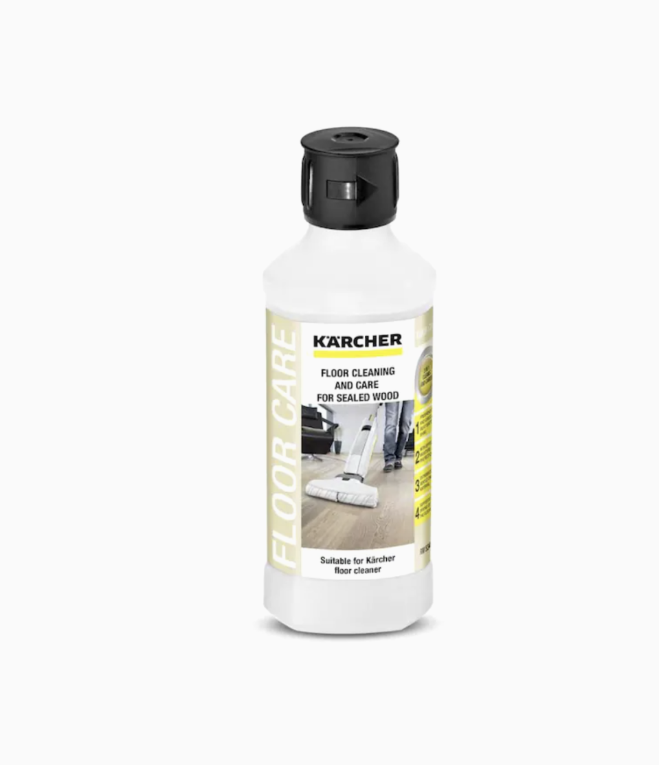 """<p><strong>Karcher</strong></p><p>lowes.com</p><p><strong>$10.00</strong></p><p><a href=""""https://go.redirectingat.com?id=74968X1596630&url=https%3A%2F%2Fwww.lowes.com%2Fpd%2FKarcher-Sealed-Wood-Floor-Cleaner-16-9-fl-oz-Pour-Bottle-Liquid-Floor-Cleaner%2F1001210894&sref=https%3A%2F%2Fwww.housebeautiful.com%2Flifestyle%2Fcleaning-tips%2Fg36384511%2Fbest-hardwood-floor-cleaners%2F"""" rel=""""nofollow noopener"""" target=""""_blank"""" data-ylk=""""slk:BUY NOW"""" class=""""link rapid-noclick-resp"""">BUY NOW</a></p><p>The streak-free and non-abrasive formula of the Karcher Wood Floor Cleaner makes it safe and gentle to use on all sealed wood floors. As you clean, you will smell the tranquil lemon fragrance, which makes the housekeeping task much more pleasant. For the most optimal concentration, add one-fourth cap of detergent to a full mop tank of water. The drying time is estimated at around two minutes, which should speed things up for you. </p>"""